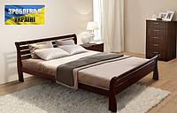 Кровать Ретро-2, 1600х2000мм темный орех, каштан, деревянная