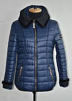 Зимняя женская куртка с мехом норки