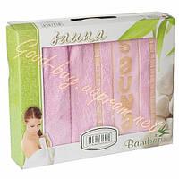 Набор для сауны женский MERZUKA бамбук розовый Турция
