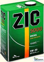 Моторное масло Zic 5000 Diesel 5W-30 (Канистра 4литра) для дизеля