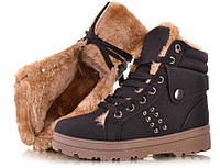 Зимние ботинки, высокого покроя, внутри на меху, выдерживают минусовые температуры