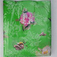 Цветочки на зеленом дешевое постельное белье полуторка