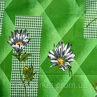 Ромашки на зеленом двуспальное постельное белье из дешевой бязи