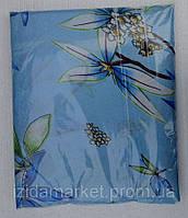 Голубое постельное белье из дешевой бязи двуспальное