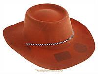 Шляпа Ковбоя детская (коричневый)
