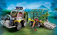 Конструктор Playmobil Машина с прицепом для динозавров