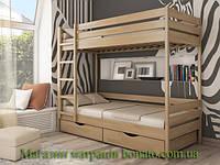 Деревянная двухъярусная кровать Дуэт  80*190