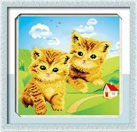 """Алмазная мозаика """"Желтые котята"""""""