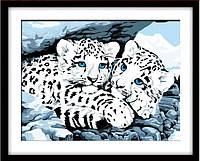 """Алмазная мозаика """"Белые тигрята"""" (набор для творчества)"""