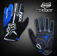 Велоперчатки Fox синие