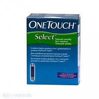 Тест-полоски Ван Тач Селект (OneTouch Select) 50шт.