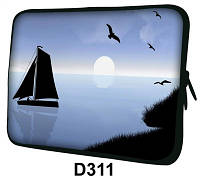 "Чехол для планшета/нетбука 10.2"" гламур HQ-Tech D311 ""Парусник"", неопреновый"