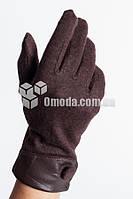 Кашемировые женские перчатки (шоколад,манжет+пуговица)