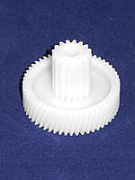 Шестерня для мясорубки универсальная малая (D=17,5/46 мм. H=33,4 мм. 54 косых зубъев, 16 прямых)