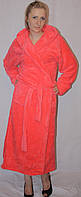 Махровый длинный халат на запах