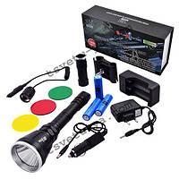 Сверхмощный подствольный фонарь Police 12V BL Q 3888 L2 35000W, светодиодный, 3 аккумулятора, под ружье