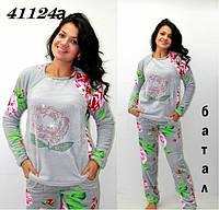 Махровая пижама батал