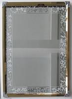 Зеркало 600*800 мм в металлической рамке с узором