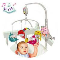 Карусель мобиль на кроватку детская  музыкальная Дельфинчики 5401