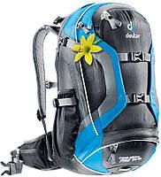 Женский рюкзак 24 л. для поездок на горном велобайке DEUTER TRANS ALPINE PRO 24 SL, 32253 7321 черный/голубой