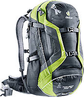 Рюкзак 28 л. для поездок на горном велобайке DEUTER TRANS ALPINE PRO 28, 32263 7251 черный/зеленый