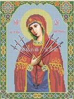 """Икона алмазной техники """"Богородица Семистрельная"""""""