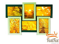 Мультирамка на 6 фотографий из дерева