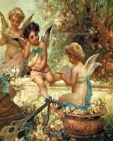 "Алмазная мозаика ""Три ангелочка читают"""