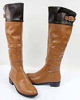 Очень стильные женские сапоги коричневого цвета! , фото 1