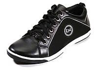 Зимние кроссовки черные натуральные кожаные низкие Flex на меху, фото 1