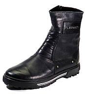 Сапоги зимние черные натуральные кожаные на меху, фото 1