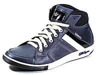 Кроссовки Adidas синие на меху натуральные кожаные , фото 1