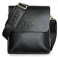 Красивая мужская кожаная сумка ПОЛО. Сумки на подарок. Качество.Стиль.Модные мужские сумки. Код:КСЕ77