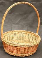 Плетена корзинка для подарков круглая, фото 1
