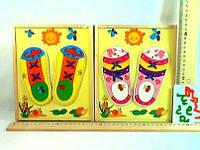 Деревянная игрушка  Шнуровка-вкладыш кеды
