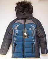 Зимняя куртка с жилеткой для мальчика 6 - 10 лет