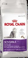 Royal Canin SENSIBLE 33 2кг сухой корм для кошек с чувствительной пищеварительной системой.