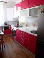Кухня красная, фото 1