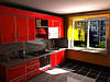 Кухня красный глянец