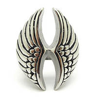 Кольцо мужское с крылья ангела, сталь 316L