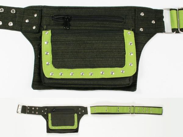 Карман пояс черно-зеленый Walkman