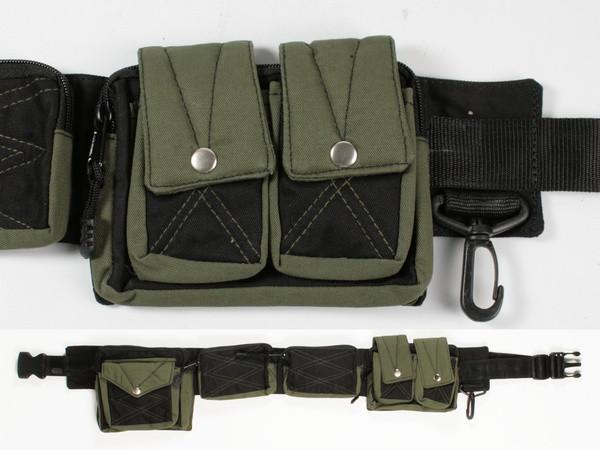 Пояс с карманами черно-зеленый Trevel A