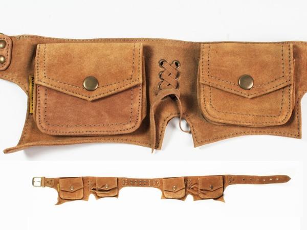 Поясная сумка из кожи с карманами Wildtrip