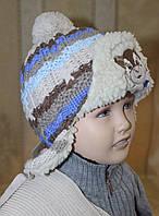 Комплект зимний шапка и шарф для мальчика.