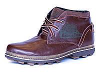 Ботинки зимние мужские Motor Harley Davidson коричневые натуральные кожаные , фото 1