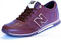 Кроссовки кожаные New Balance коричневые , фото 1