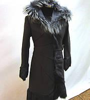 Пальто кашемировое с натуральным мехом р. 46