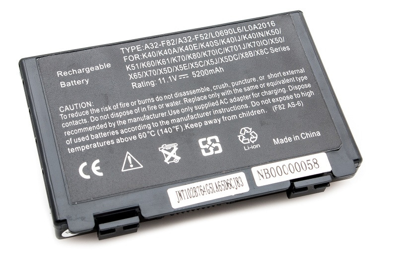 Аккумулятор PowerPlant для ноутбуков ASUS F82 (A32-F82, AS F82 3S2P) 11,1V 5200mAh  [sppp]