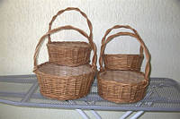 Плетеная Корзинка для подарков(круглая), фото 1