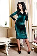 Элегантное бархатное короткое платье, фото 1